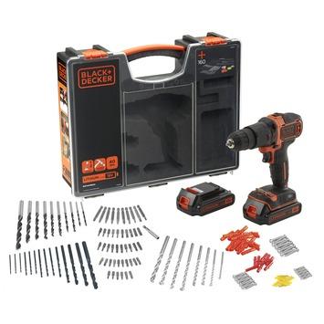 Black+Decker accu klopboormachine BDCHD18BOA-QW + 160-delige accessoireset