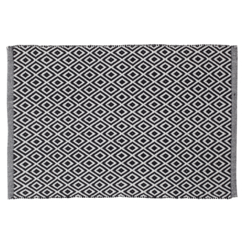 Sealskin Badmat Trellis Zwart 60x90 cm