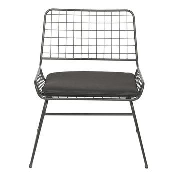 Relaxstoel Dennis zwart staal (hxbxd) 73x64x57 cm