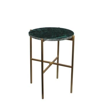 Bijzettafel Nanne donker groen marmer (hxbxd) 50x40x40 cm