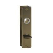 Schild met deurslot voor WC rechthoek 57/5 mm brons