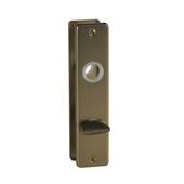 Schild met deurslot voor wc rechthoek 63/8 mm brons