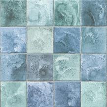 Vliesbehang levi groen/blauw (dessin 103961)
