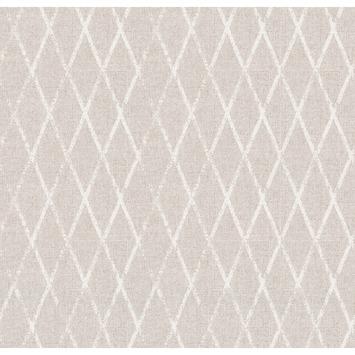 Vliesbehang wieber linnen zand (dessin 103978)