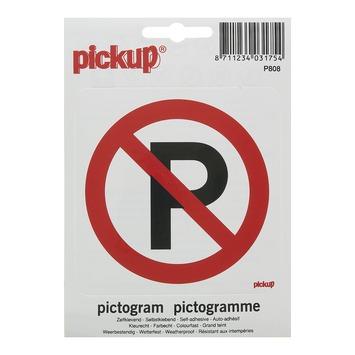 Pickup pictogram Verboden te Parkeren 10x10 cm