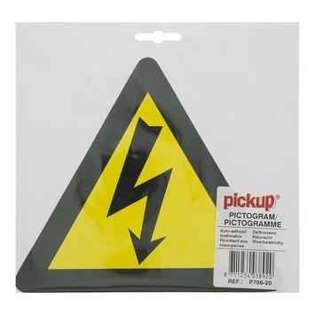 Pickup pictogram Gevaar voor Elektrische Spanning 20x20 cm