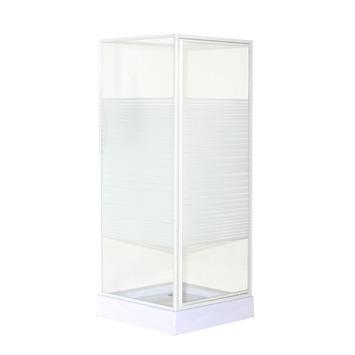 OK douchecabine draaideur met zijwand 90x90x185 cm wit