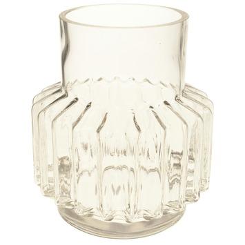 Vaas glas motief Ø17x20cm