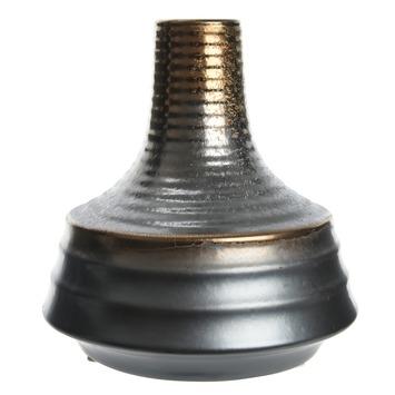 Vaas metallic finish keramiek  Ø12x13cm