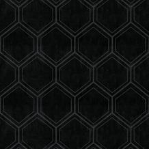 Vliesbehang hexagon blauw (dessin 103974)