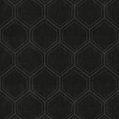 Vliesbehang hexagon zwart (dessin 103975)