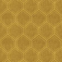 Vliesbehang hexagon oker (dessin 103976)