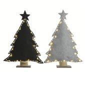 Kerstboom vilt ledlicht en donkergrijs 29x40 cm