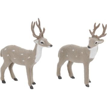 Hert bont 2 soorten grijs 15 cm