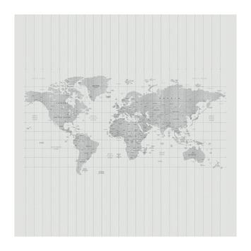Fotobehang wereldkaart (dessin 89436)
