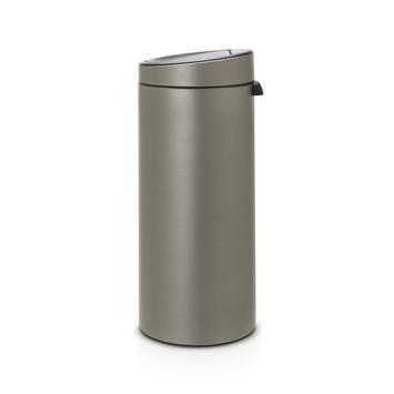 Afvalbak Touch Bin.Brabantia Touch Bin 30 Liter Platinum
