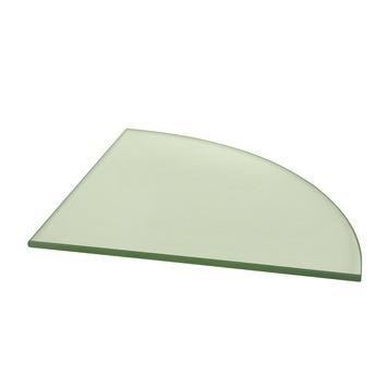 Duraline glazen wandplank kwartrond helder