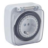 Handson tijdschakelklok digitaal mini wit spatwaterdicht