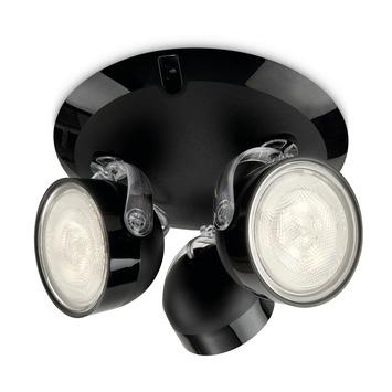 Philips Opbouwspot MyLiving Dyna LED Zwart 3 x 3W