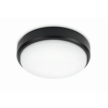 Plafondlamp LED 12W zwart IP54 3000K