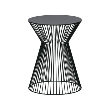 Suus bijzettafel metaal zwart 46x35x35 cm