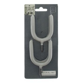 Duraline haakset grijs maximaal 0 - 40 mm 4 stuks