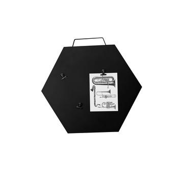 Hexagon sierblad, wanddecoratie met 4 magnetische clips