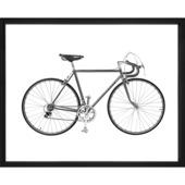 Print in lijst fiets 40x50 cm