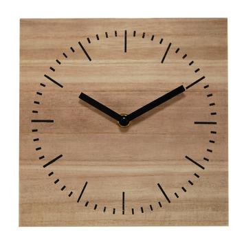 Extreem Tafelklok Bobbi van hout met zwarte wijzers kopen? klokken | KARWEI &QG32