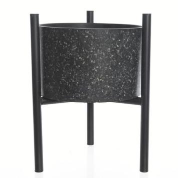 Plantenbak Casblanca glasvezel standaard zwart 34x28x28 cm