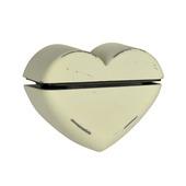 B! Organised clip klassiek hart oud wit