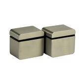 B! Organised clip round cube clip mini geborsteld nikkel