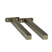 B! Organised plankdrager modern aluminium 23,5 cm (2 stuks)