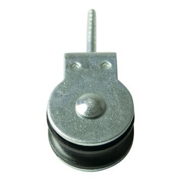 Karwei katrol met polypropyleen wiel zwart 20 mm (2 stuks)