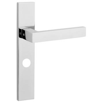 KARWEI Chelsea deurkrukset met slotgat voor wc 63/8mm glans rvs