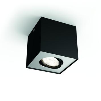 Philips opbpouwspot Box zwart - Incl 1X LED 4,5W WarmGlow dimbaar