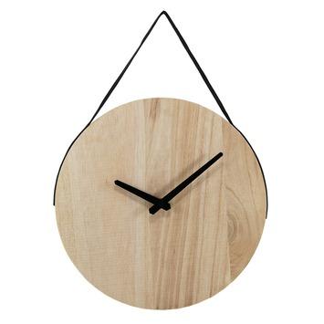 Extreem Wandklok Dex van hout met zwarte wijzers en band kopen? klokken &PZ92