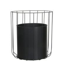 Pot Marrakesh van zwart metaal 38 cm
