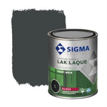 Sigma houtlak exterieur hoogglans RAL 7021 zwartgrijs 750 ml