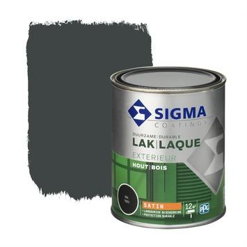 Sigma houtlak exterieur zijdeglans RAL 7021 zwartgrijs 750 ml