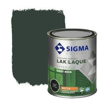 Sigma houtlak exterieur zijdeglans grachtengroen 750 ml