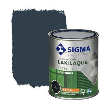 Sigma houtlak exterieur zijdeglans RAL 5011 staalblauw 750 ml