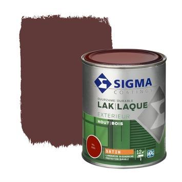 Sigma houtlak exterieur zijdeglans RAL 3005 wijnrood 750 ml
