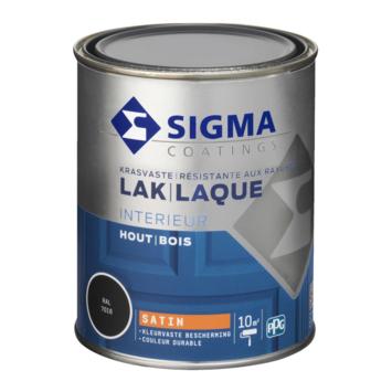 Sigma houtlak interieur zijdeglans RAL 7016 antracietgrijs 750 ml