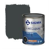 Sigma houtlak interieur zijdeglans RAL 7021 zwartgrijs 750 ml