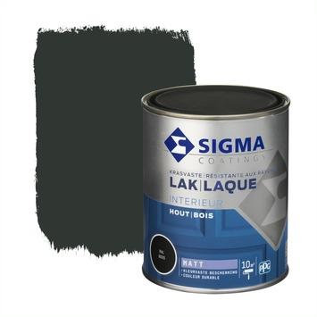 Sigma houtlak interieur mat RAL 9005 gitzwart 750 ml