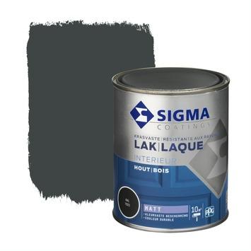 Sigma houtlak interieur mat RAL 7021 zwartgrijs 750 ml