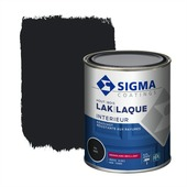 Sigma houtlak interieur hoogglans RAL 9005 gitzwart 750 ml