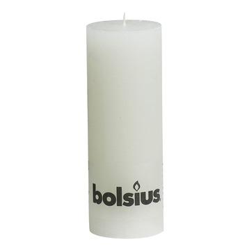 Bolsius stompkaars rustiek wit 190x68