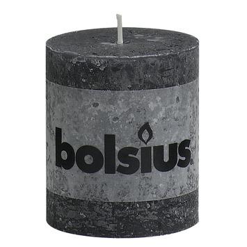Bolsius stompkaars rustiek antraciet 80x68